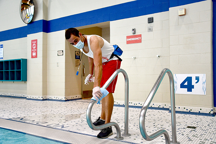 Lifeguard cleaning
